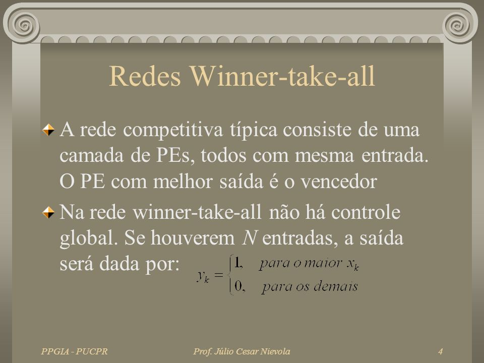 Redes Winner-take-all