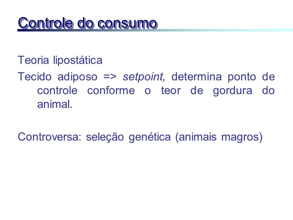 Controle do consumo Teoria lipostática