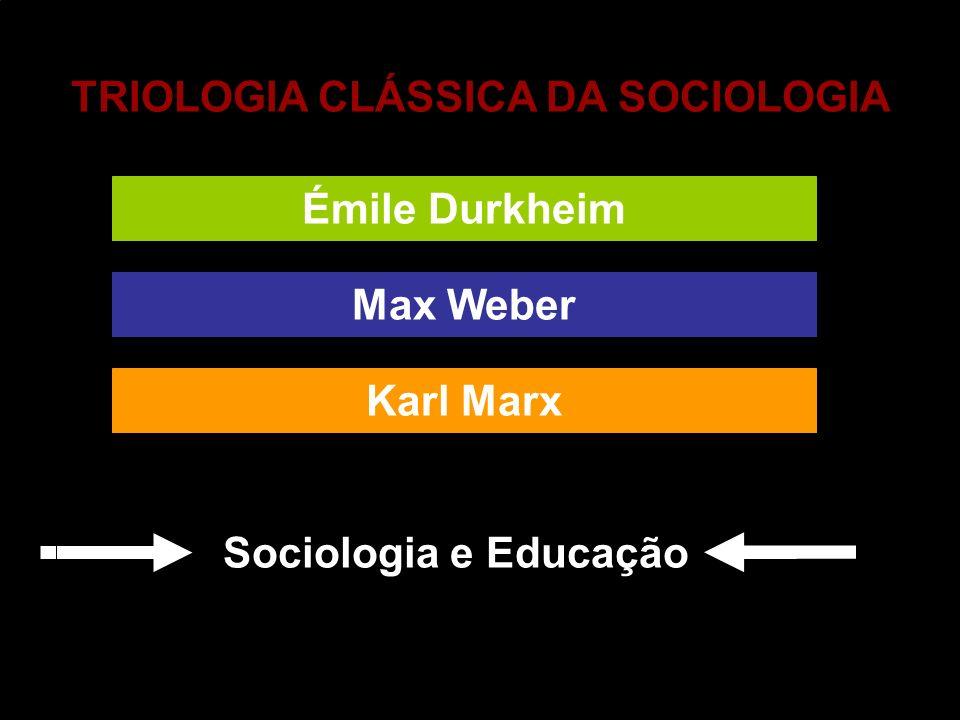 TRIOLOGIA CLÁSSICA DA SOCIOLOGIA