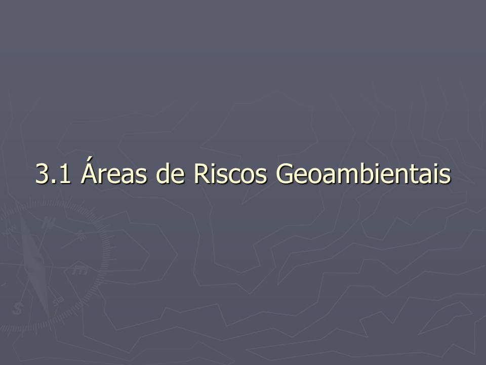 3.1 Áreas de Riscos Geoambientais