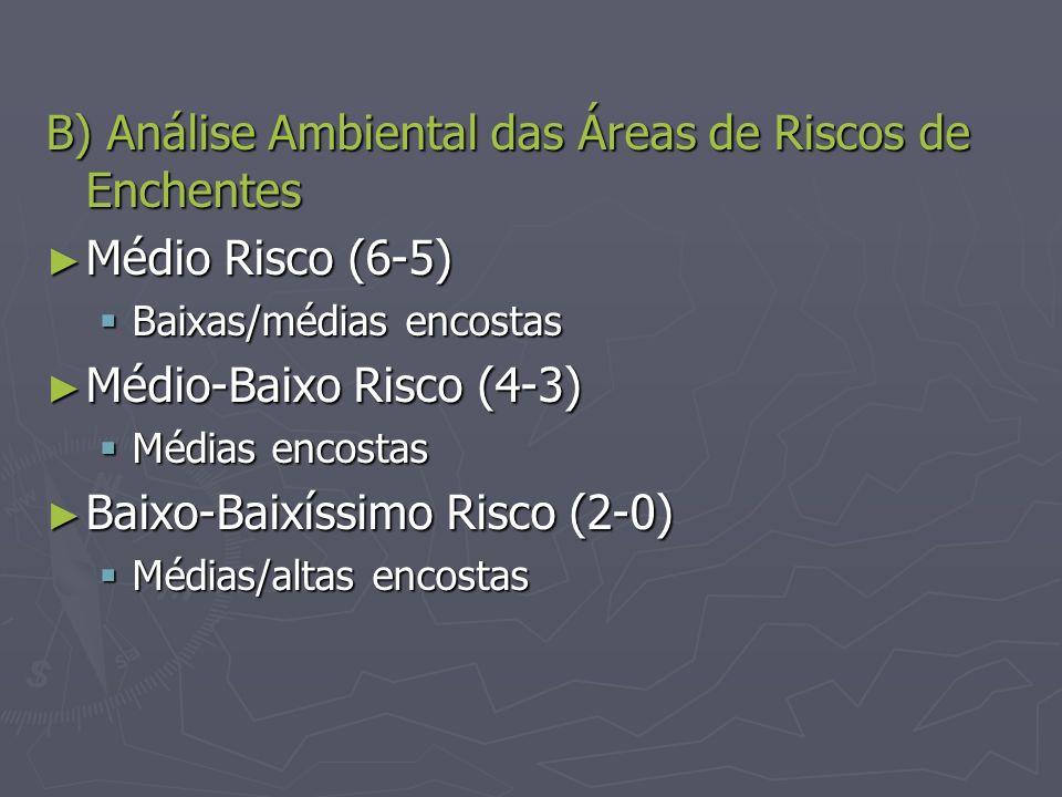 B) Análise Ambiental das Áreas de Riscos de Enchentes