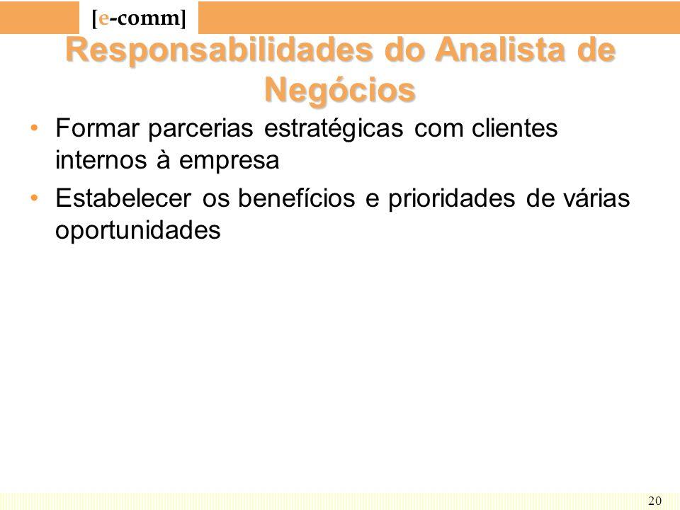 Responsabilidades do Analista de Negócios