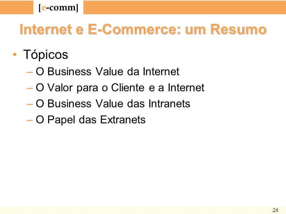Internet e E-Commerce: um Resumo