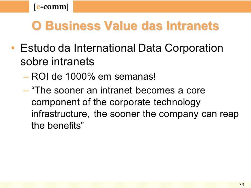 O Business Value das Intranets