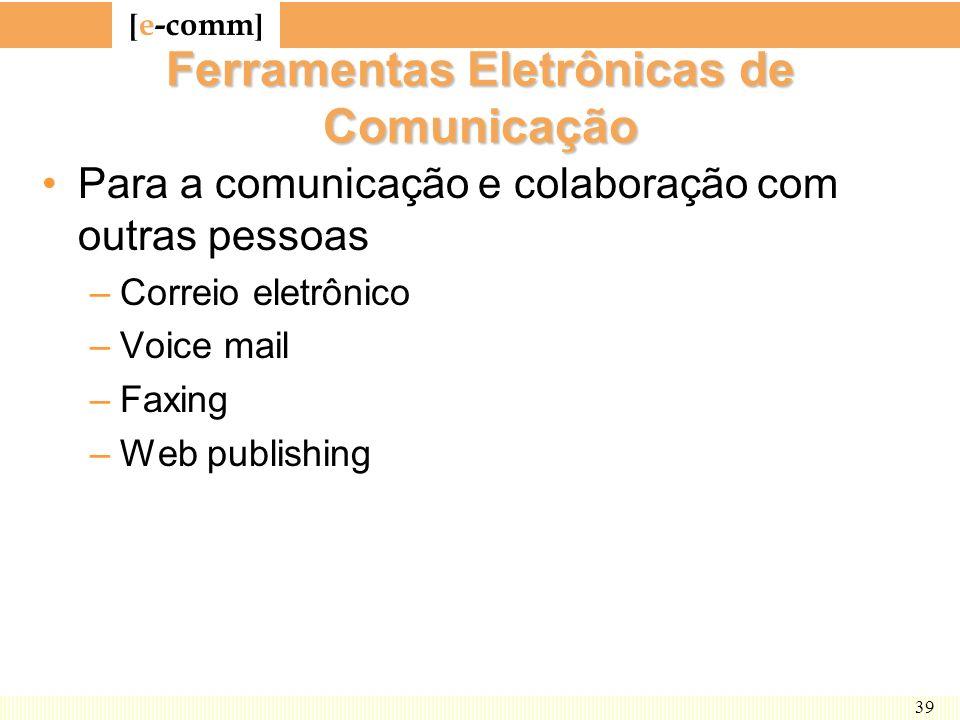 Ferramentas Eletrônicas de Comunicação
