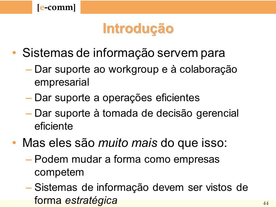 Introdução Sistemas de informação servem para