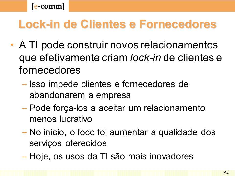 Lock-in de Clientes e Fornecedores