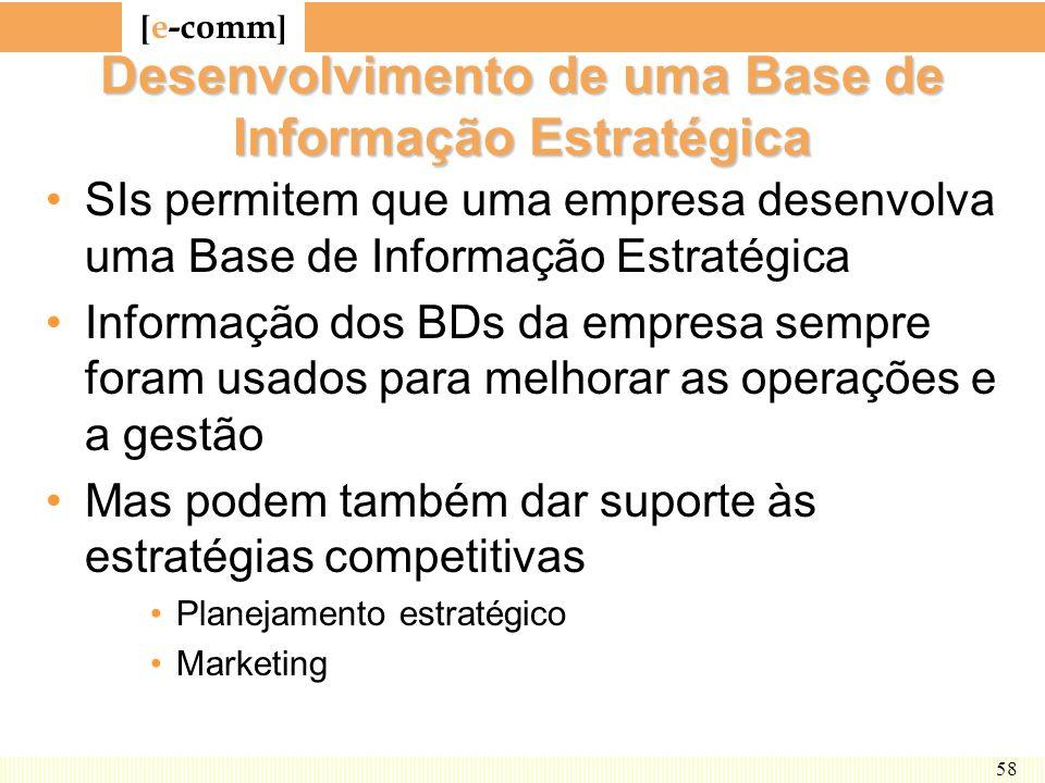 Desenvolvimento de uma Base de Informação Estratégica