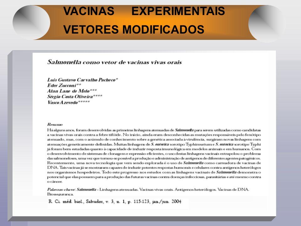 VACINAS EXPERIMENTAIS