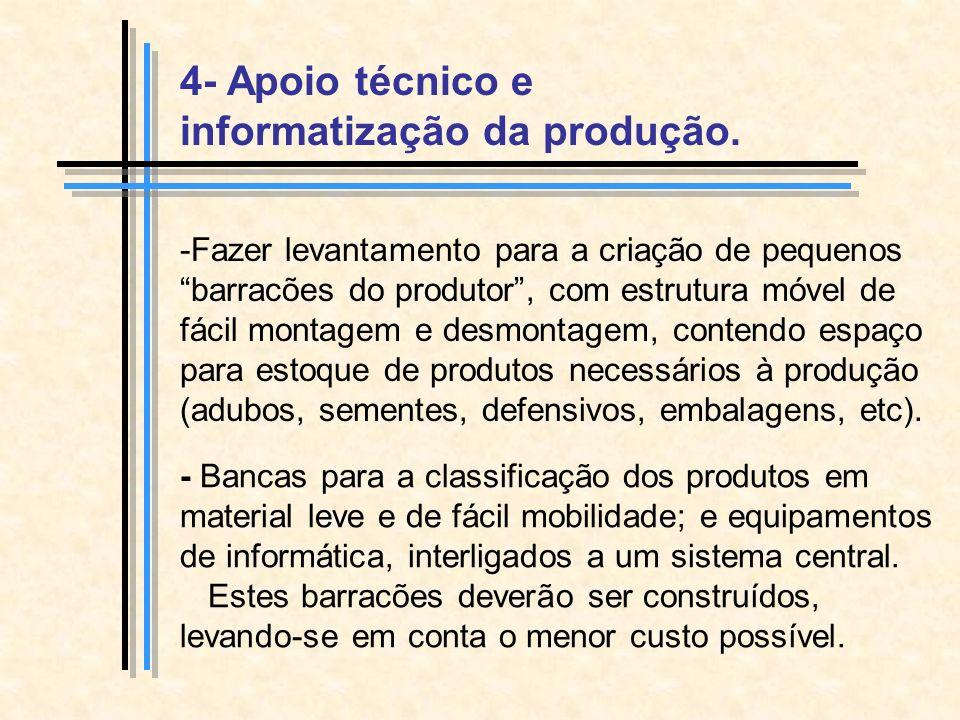 4- Apoio técnico e informatização da produção.