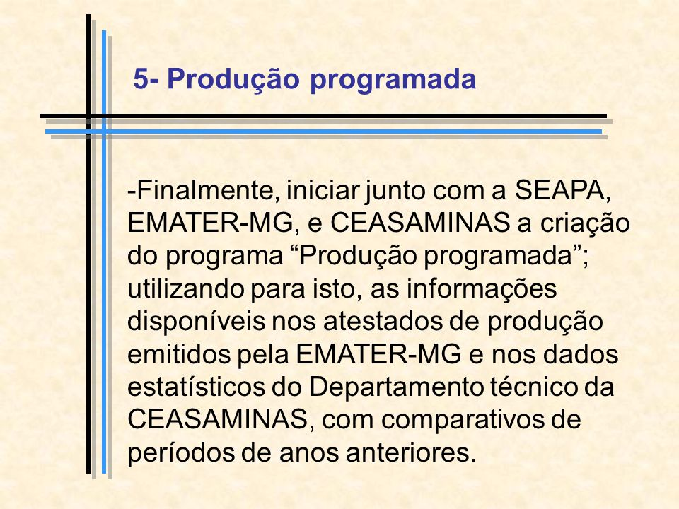 5- Produção programada