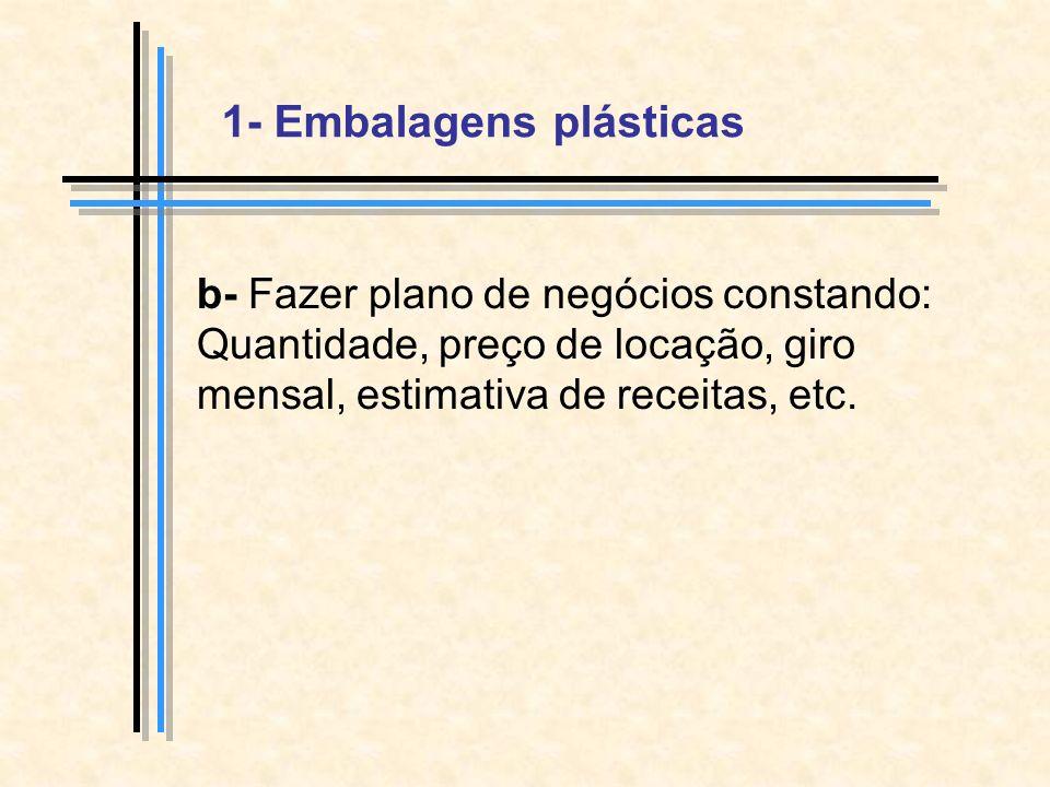 1- Embalagens plásticas