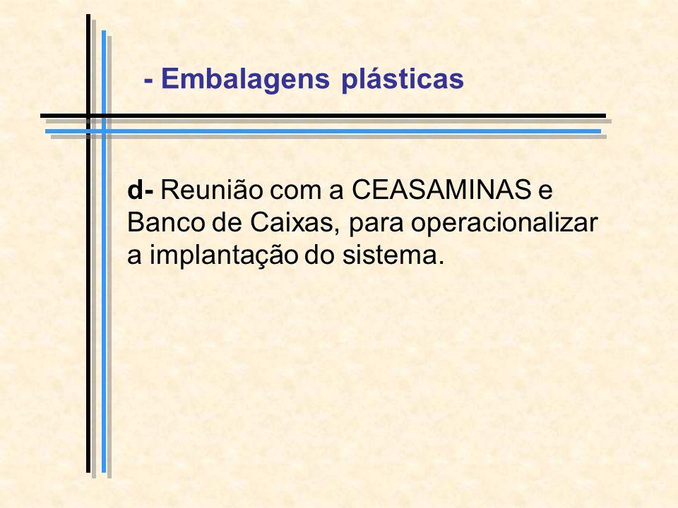 - Embalagens plásticas