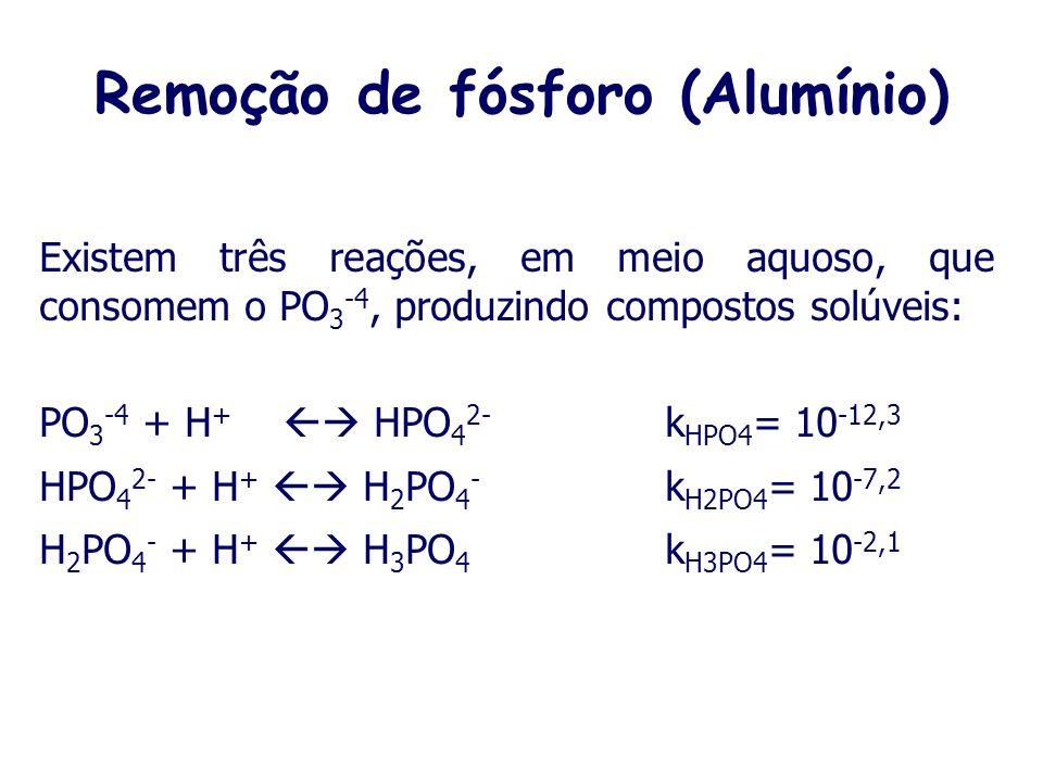 Remoção de fósforo (Alumínio)