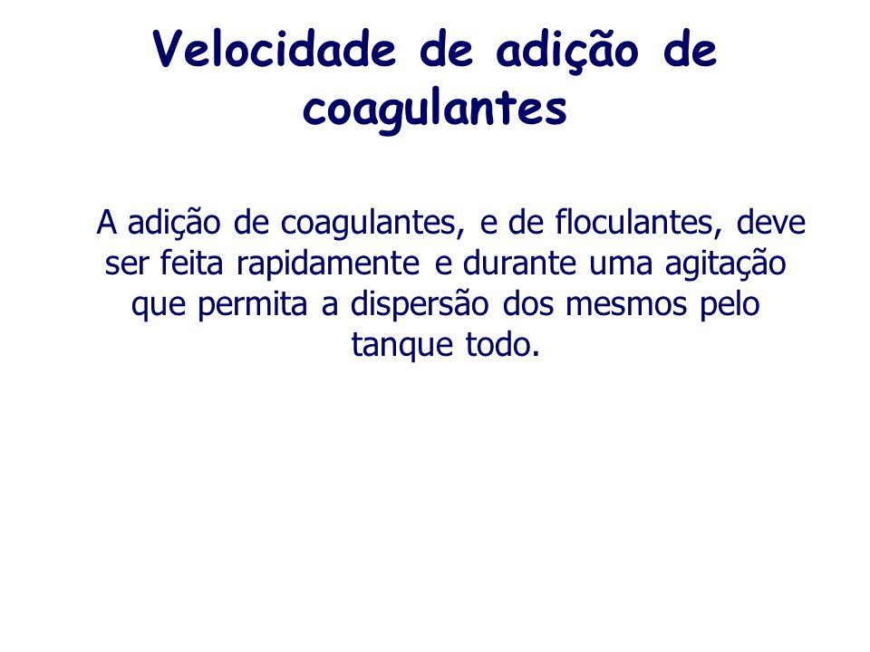 Velocidade de adição de coagulantes