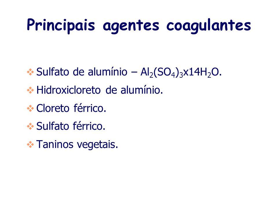 Principais agentes coagulantes