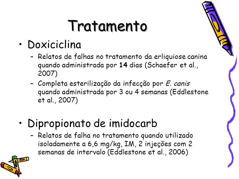 Tratamento Doxiciclina Dipropionato de imidocarb
