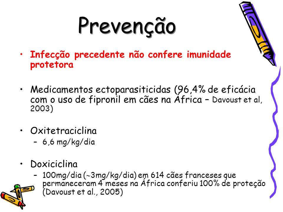 Prevenção Infecção precedente não confere imunidade protetora