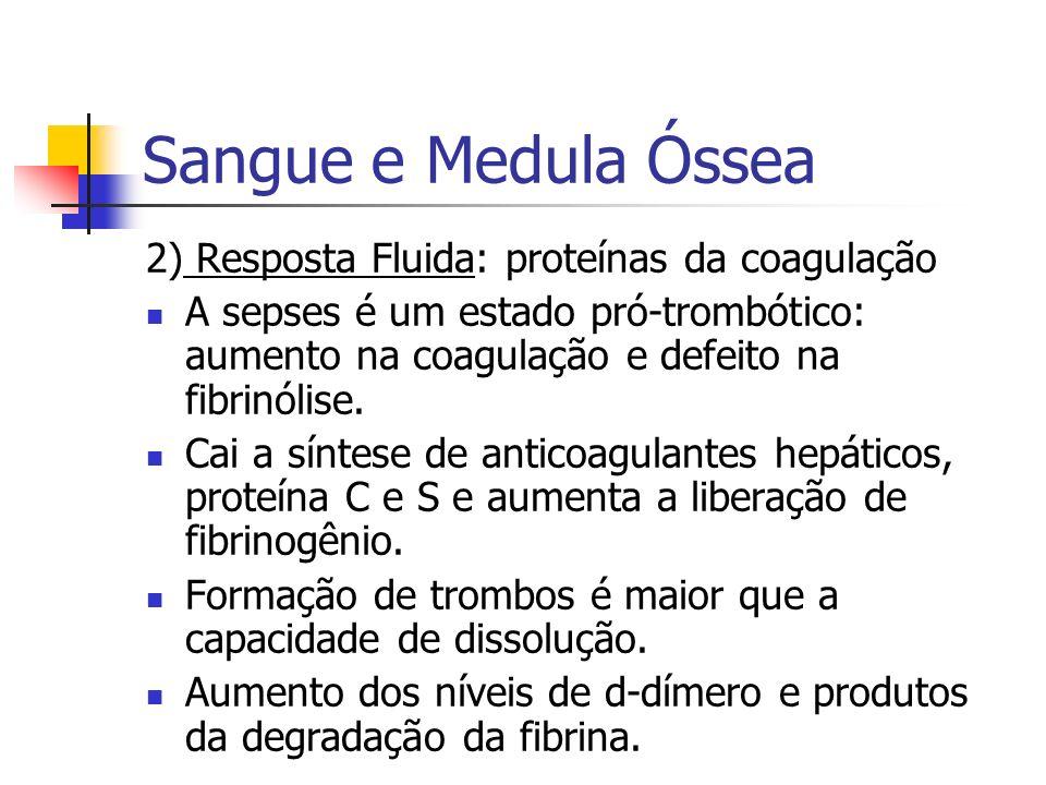 Sangue e Medula Óssea 2) Resposta Fluida: proteínas da coagulação