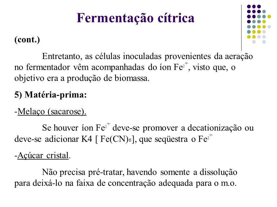 Fermentação cítrica (cont.)