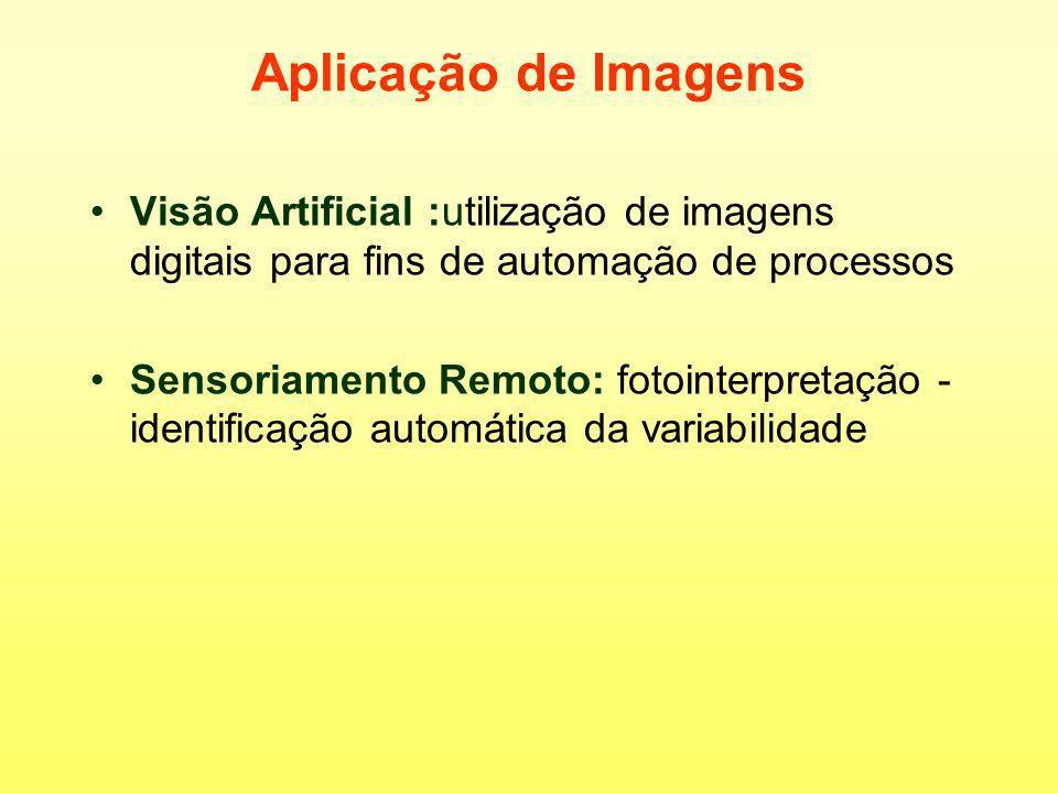 Aplicação de ImagensVisão Artificial :utilização de imagens digitais para fins de automação de processos.