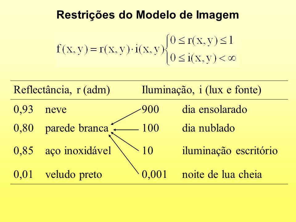 Restrições do Modelo de Imagem