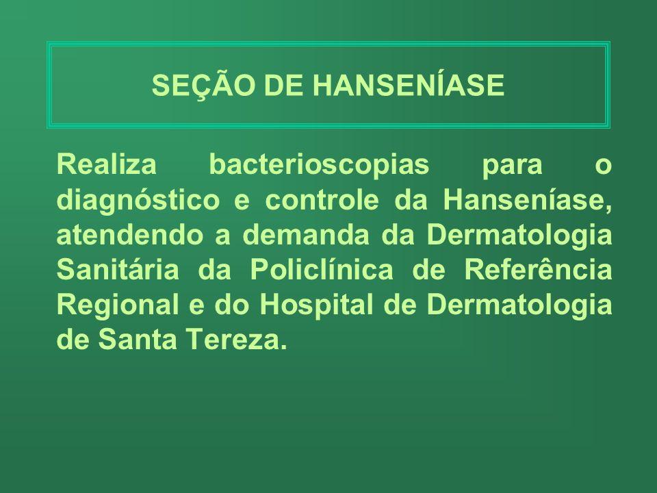 SEÇÃO DE HANSENÍASE