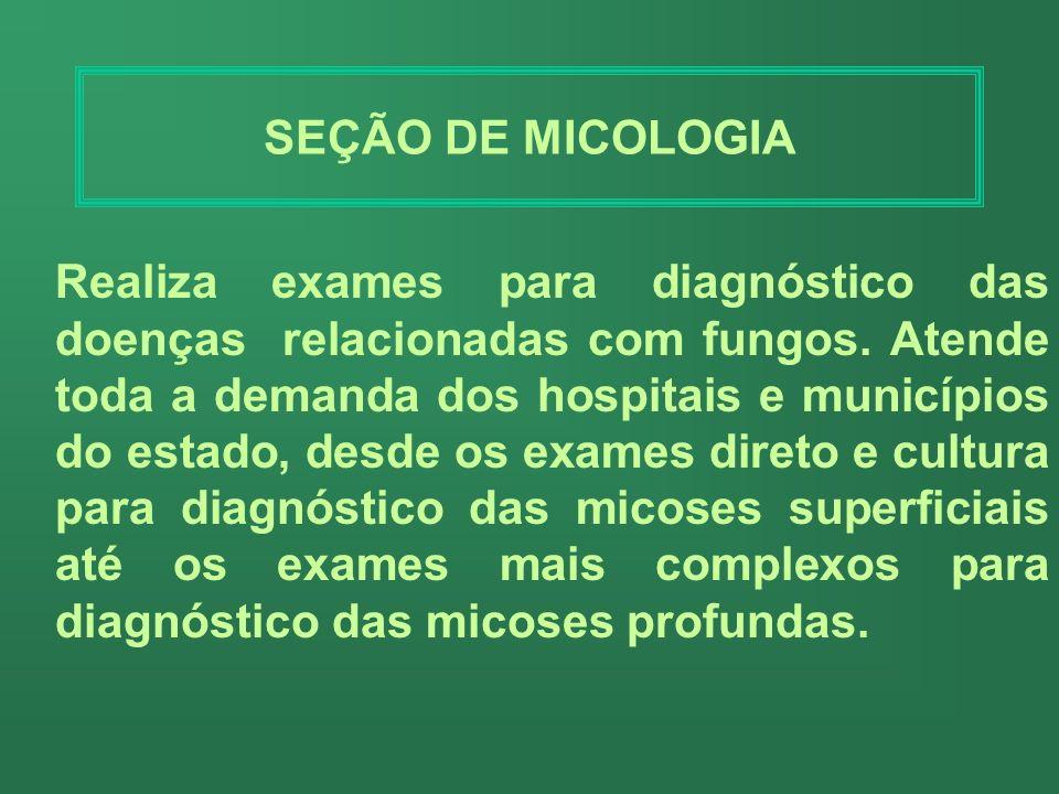 SEÇÃO DE MICOLOGIA