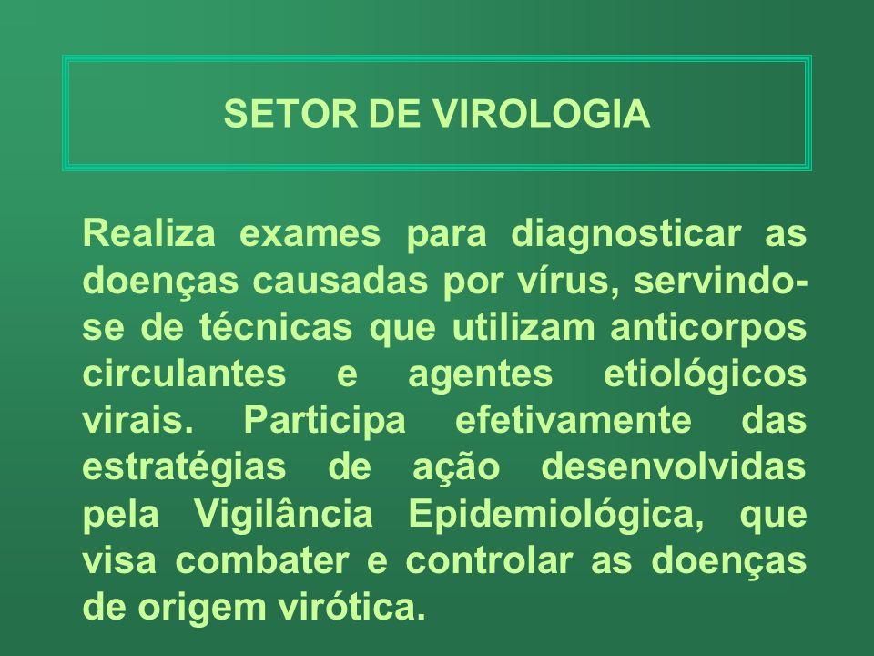 SETOR DE VIROLOGIA