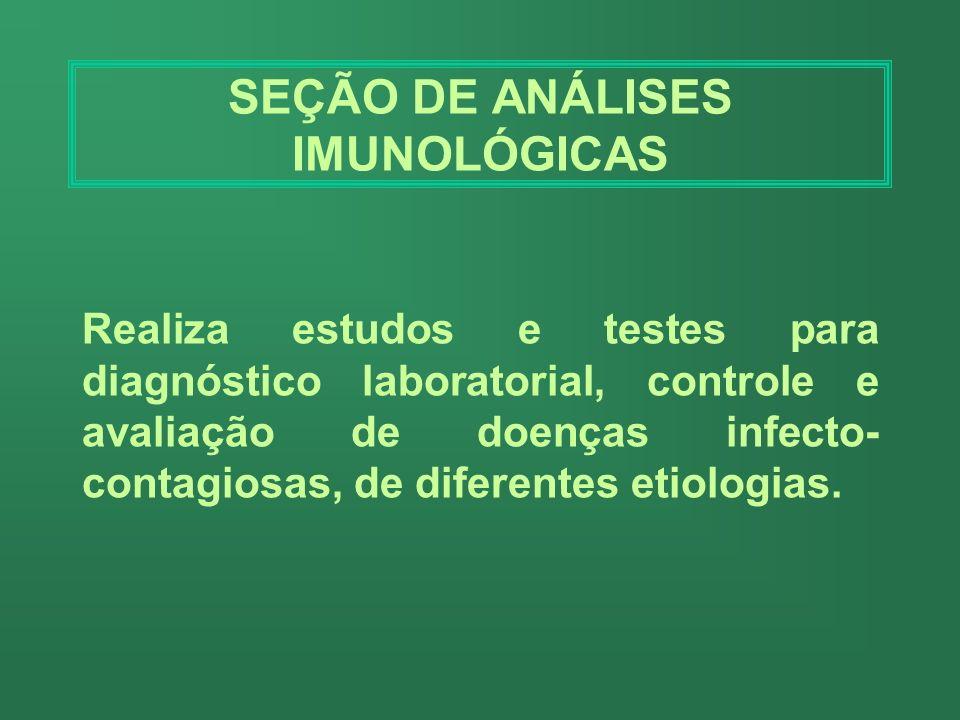 SEÇÃO DE ANÁLISES IMUNOLÓGICAS