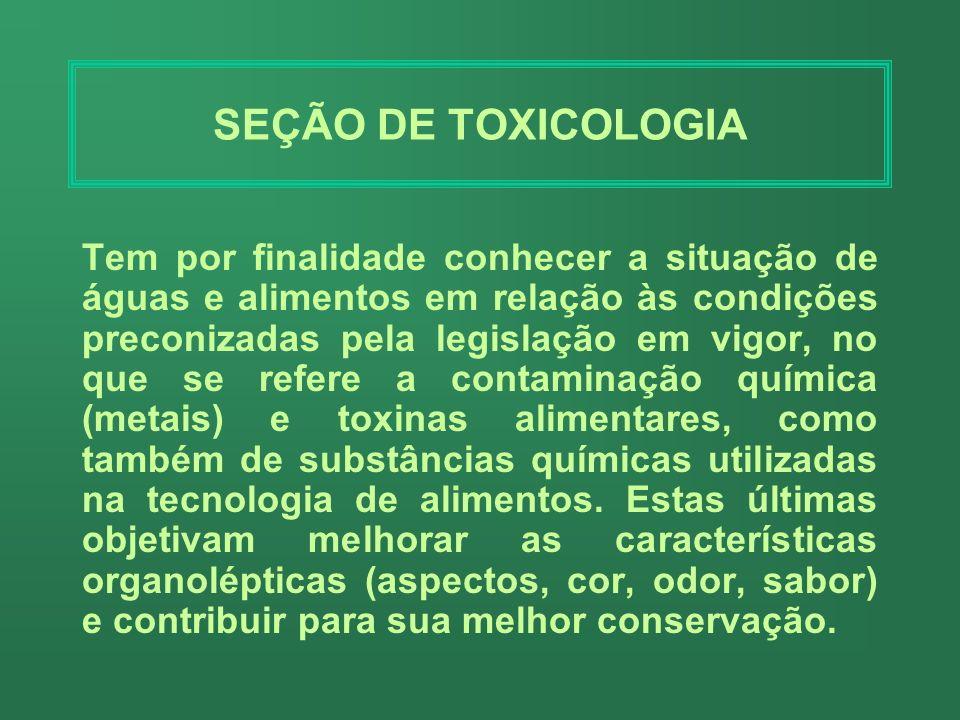 SEÇÃO DE TOXICOLOGIA