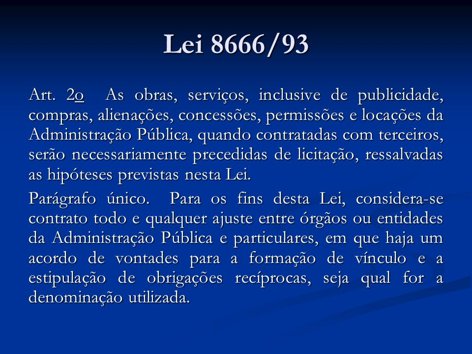 Lei 8666/93