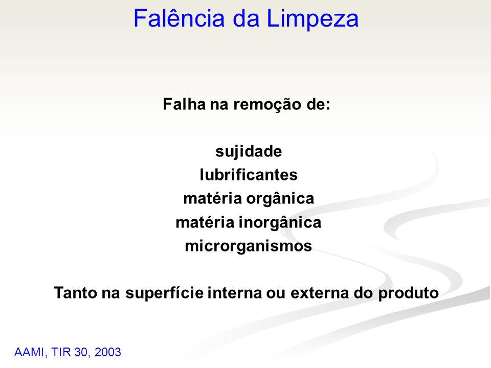 Tanto na superfície interna ou externa do produto