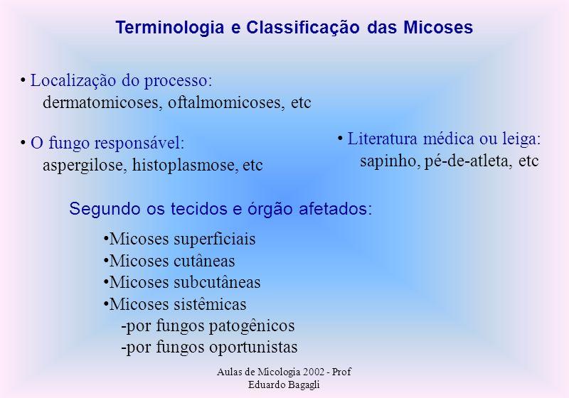 Terminologia e Classificação das Micoses