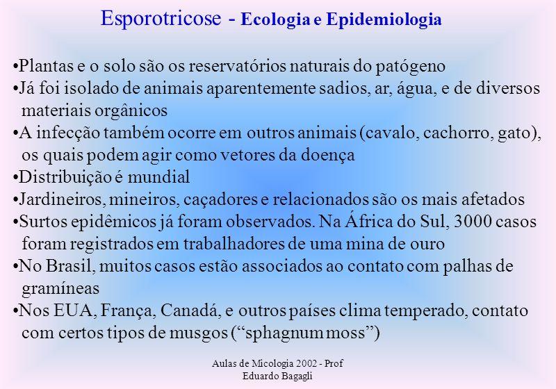 Esporotricose - Ecologia e Epidemiologia