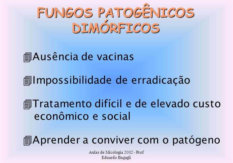 FUNGOS PATOGÊNICOS DIMÓRFICOS