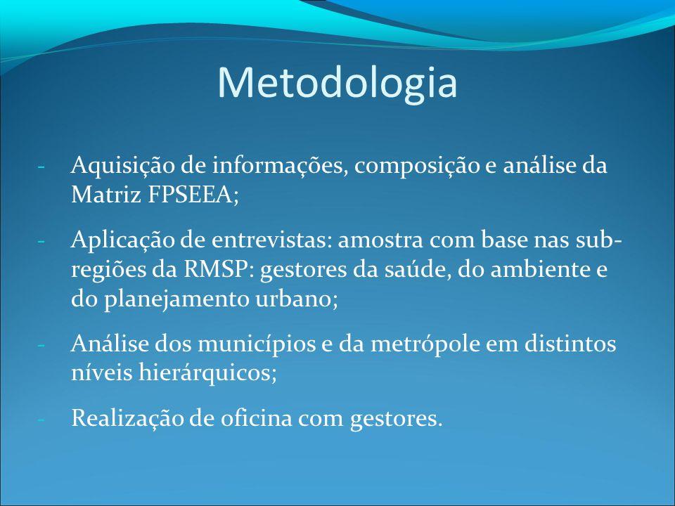 Metodologia Aquisição de informações, composição e análise da Matriz FPSEEA;