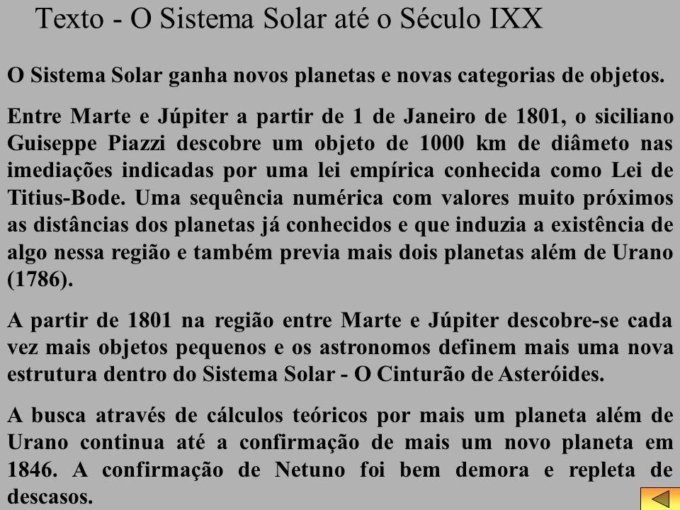 Texto - O Sistema Solar até o Século IXX