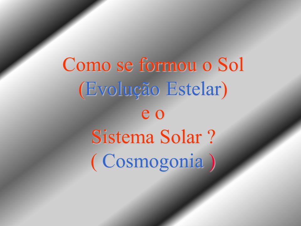 Como se formou o Sol (Evolução Estelar) e o Sistema Solar