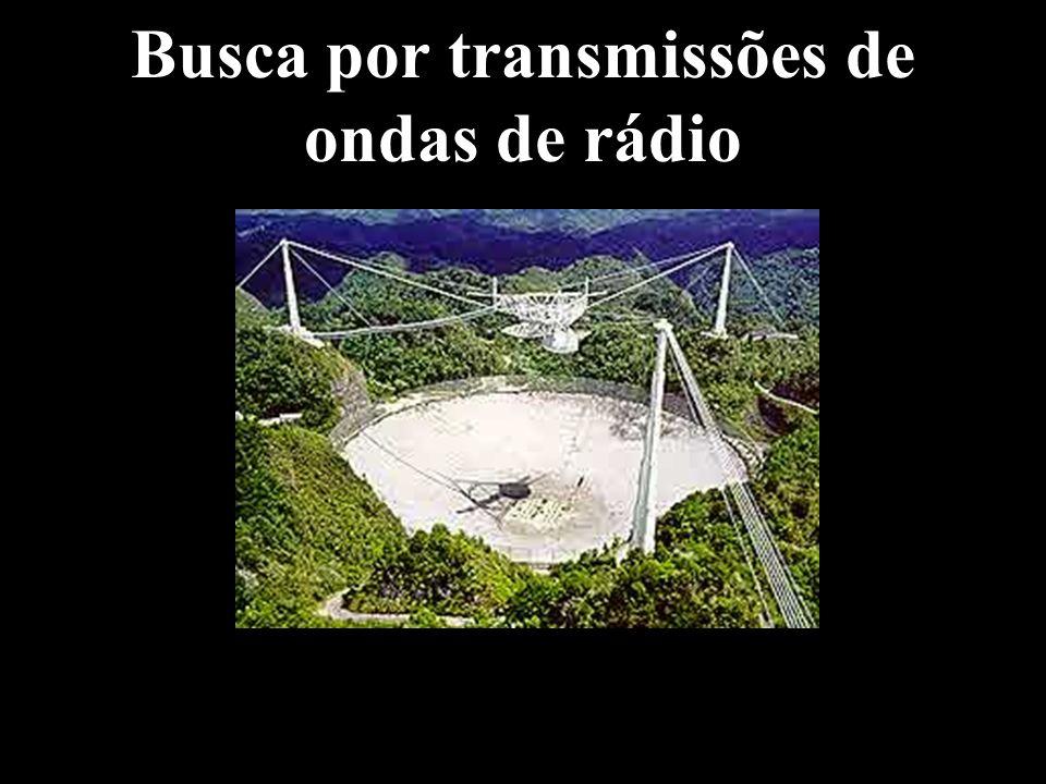 Busca por transmissões de ondas de rádio