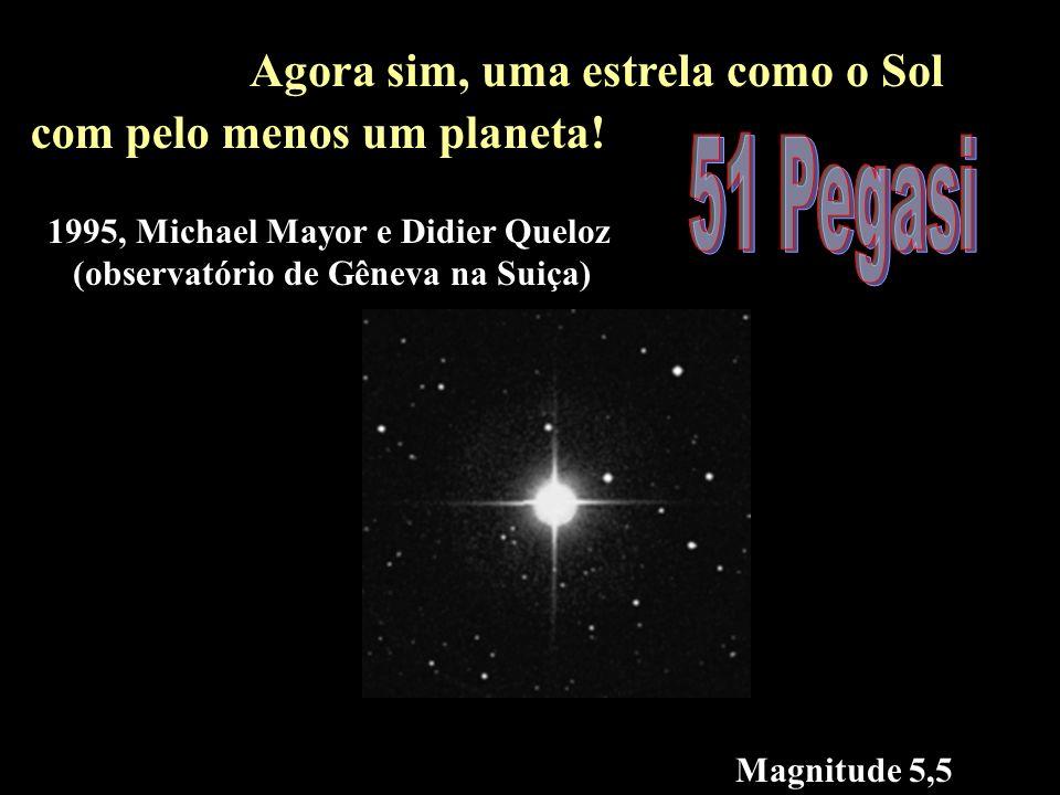 51 pegasi 51 Pegasi Agora sim, uma estrela como o Sol