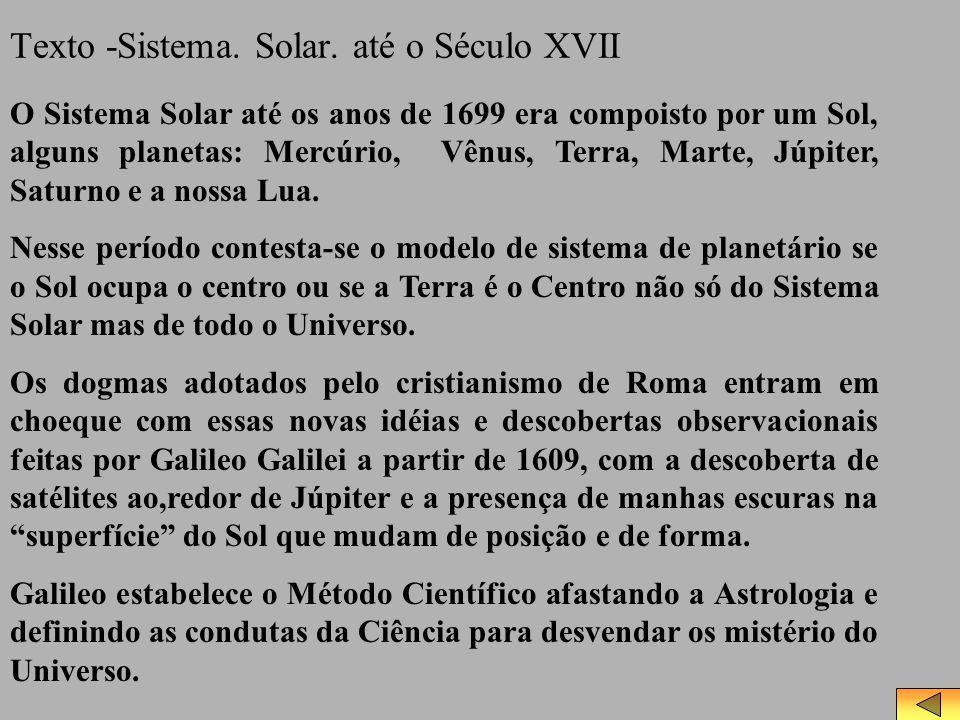 Texto -Sistema. Solar. até o Século XVII