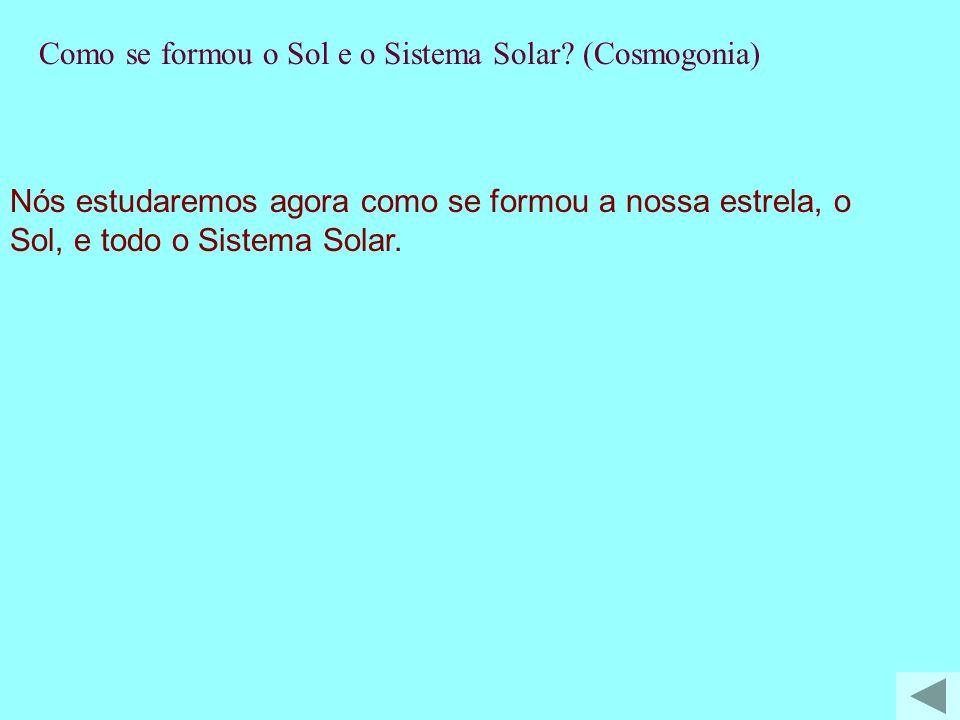 T-Como se formou o Sol e o Sistema Solar (Cosmogonia)