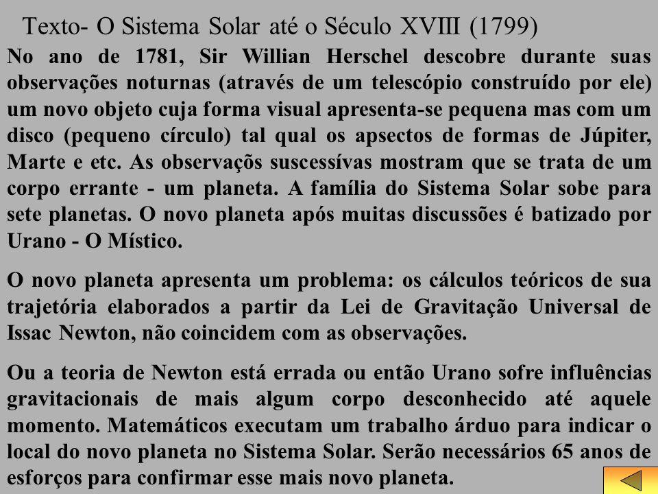 Texto- O Sistema Solar até o Século XVIII (1799)
