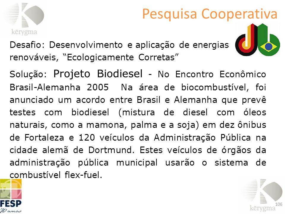 Pesquisa Cooperativa Desafio: Desenvolvimento e aplicação de energias renováveis, Ecologicamente Corretas