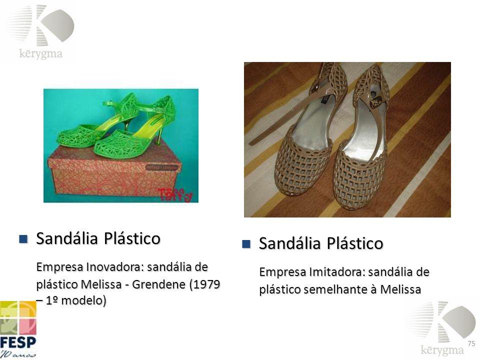 Sandália Plástico Empresa Inovadora: sandália de plástico Melissa - Grendene (1979 – 1º modelo) Sandália Plástico.