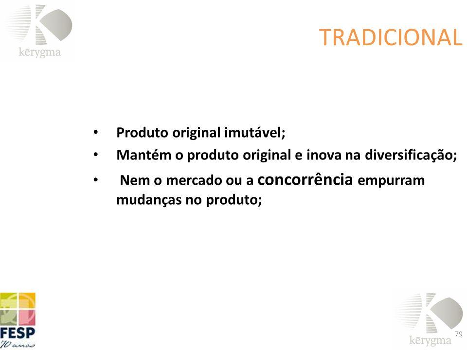 TRADICIONAL Produto original imutável;