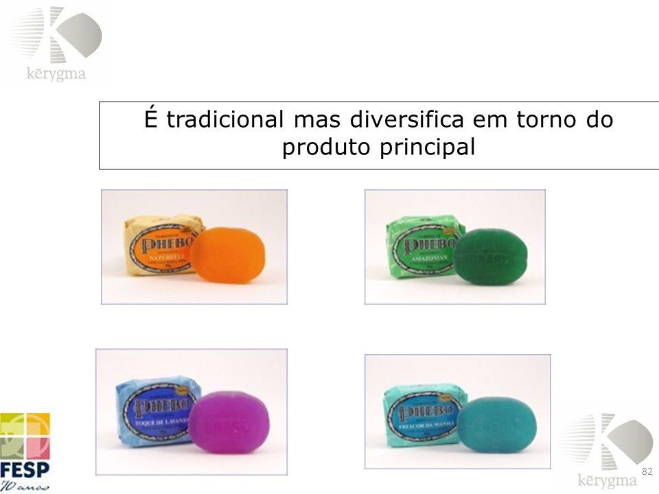 É tradicional mas diversifica em torno do produto principal