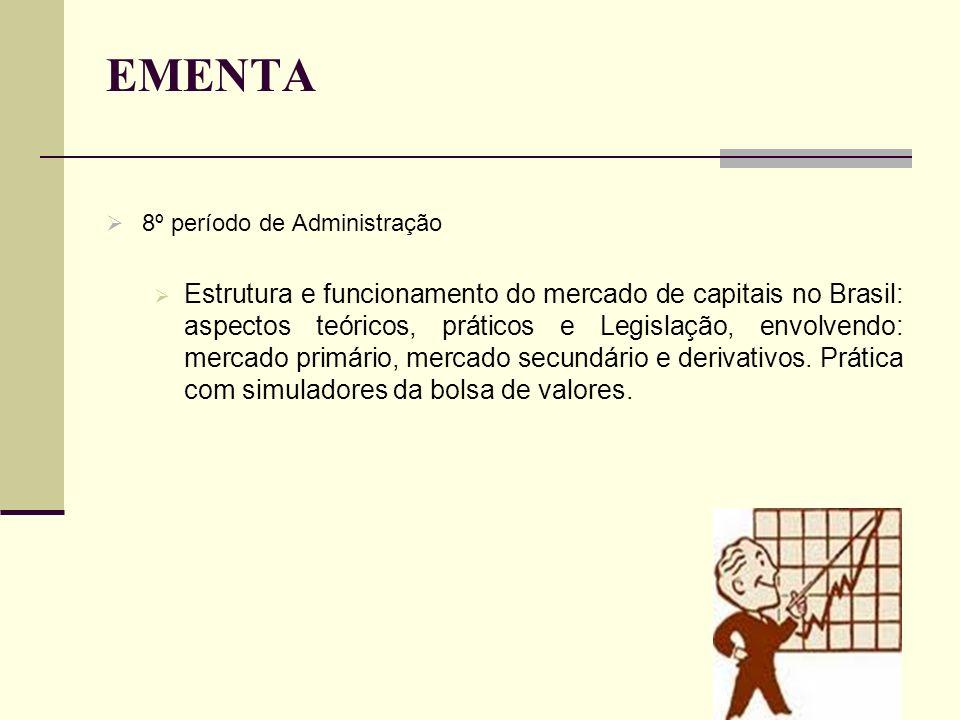 EMENTA 8º período de Administração.