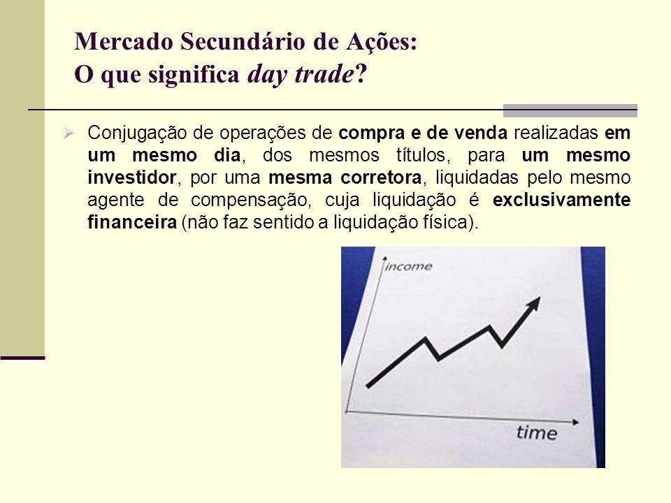 Mercado Secundário de Ações: O que significa day trade